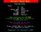 Rocket Raid BBC Micro Instructions