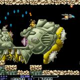 R-Type Sharp X68000 The entire third stage is a fight with this giant Warship