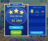 Bubble Witch 2 Saga  Browser The after-level stats.