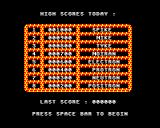 Panik! BBC Micro High score table