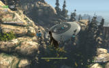 Goat Simulator Windows A crashed UFO in the Goat City Bay map