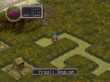 Breath of Fire III PlayStation The first world map region of the game is green and lush