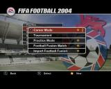 FIFA Soccer 2004 PlayStation 2 These are the game options. All the options with a star are new options for this game