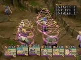 Breath of Fire IV PlayStation Battle in a rocky area. The enemy casts a spell on us! What insolence!..