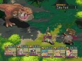 Breath of Fire IV PlayStation An impressively-looking enemy attacks in a green area!..