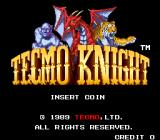 Tecmo Knight Arcade Title screen
