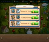 Funny Farm Browser In the shop, I can buy additional boosters.