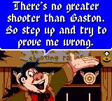 Disney's Beauty and the Beast: A Board Game Adventure Game Boy Color Welcome to the shooting range.