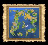 Dragon Warrior VII PlayStation Zoomed-out map for reference. The world has become much bigger by now - maybe because it's actually the past?..