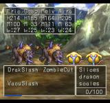Dragon Warrior VII PlayStation Battle outside, near mountains. Mid-level monsters. See my special physical skills!..