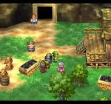 Dragon Warrior VII PlayStation A secluded house with some workers and a cave entrance. I need to book another vacation