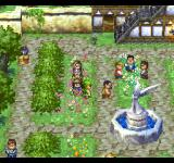 Dragon Warrior VII PlayStation A beautiful town with a fountain and a statue on the main square