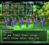 Dragon Warrior VII PlayStation You can try talking to enemies, and your companions will offer some comments. Those guys don't seem to be impressed, though