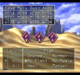 Dragon Warrior VII PlayStation Desert battle against... books! What are they going to do - bore me to death?.. You can make Plans, i.e. set your companions on AI routines or control them manually