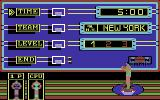 Double Dribble Commodore 64 The game options menu