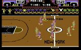 Double Dribble Commodore 64 A game in progress