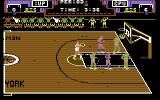 Double Dribble Commodore 64 Taking a foul shot