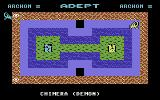 Archon II: Adept Commodore 64 The gameplay screen