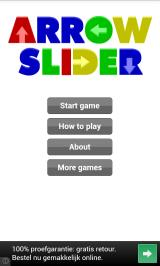 Arrow Slider Android Title screen and main menu