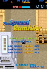The Speed Rumbler Arcade Title Screen.
