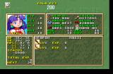 Grandia PlayStation Character status screen. This is the obligatory underage girl with the obligatory cute pet