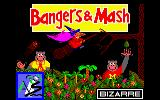 Bangers & Mash Amstrad CPC Title Screen.