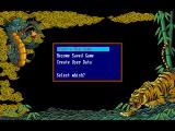Romance of the Three Kingdoms III: Dragon of Destiny DOS Main Menu