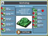 Armada Tanks Browser The workshop, where you can upgrade your tank.