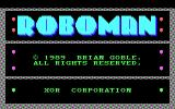 Roboman DOS Title screen (EGA)