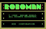 Roboman DOS Title screen (CGA)