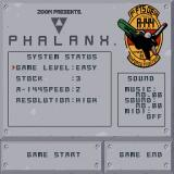 Phalanx Sharp X68000 Main menu
