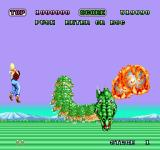 Space Harrier Sharp X68000 Time out, first boss dragon thing!