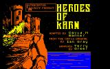 Heroes of Karn Amstrad CPC Title Screen.