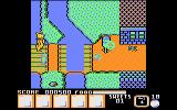 Yogi Bear & Friends in the Greed Monster: A Treasure Hunt Atari 8-bit Collapsed bridge