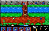 Yogi Bear & Friends in the Greed Monster: A Treasure Hunt Amiga Pink piranha jumping over the bridge