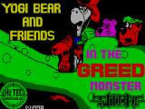 Yogi Bear & Friends in the Greed Monster: A Treasure Hunt ZX Spectrum Title screen