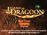 The Legend of Dragoon PlayStation Title screen