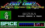 Fast Lane! The Spice Engineering Challenge Atari ST Choosing a track to practise