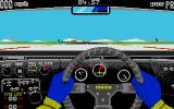 Fast Lane! The Spice Engineering Challenge Atari ST Cockpit view. You have to start the engine first and then change gears with the joystick or keyboard