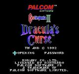 Castlevania III: Dracula's Curse  NES Title Screen [European Version]