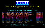 Gilligan's Gold Amstrad CPC Title Screen.