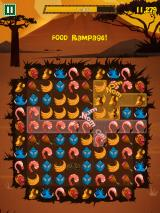 Feeding Time iPhone There are three levels included in the game, including the Safari (pictured), Backyard and Tundra.