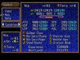 Legend of Legaia PlayStation Status screen