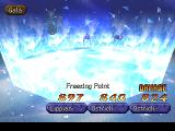 Legend of Legaia PlayStation Gala unleashes Freezing Point - a might ice-based attack of one of his minions