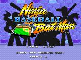 Ninja Baseball Bat Man Arcade Title screen