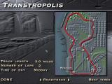 The Need for Speed: Special Edition DOS SE special track: Transtropolis. Track layout.