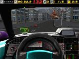 The Need for Speed: Special Edition DOS Transtropolis gameplay - inside the bonus car