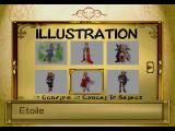 Rhapsody: A Musical Adventure PlayStation The Illustration menu eventually becomes accessible. It contains all sorts of character graphics...