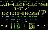 Wheres My Bones? Commodore 64 Title Screen.