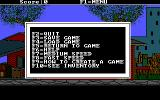The Adventures of Melvin Freebush DOS Function keys are used a lot. F1 brings up this menu and it is from here that the game is saved, loaded, and abandoned